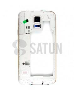 Carcasa intermedia Samsung Galaxy S5 blanco
