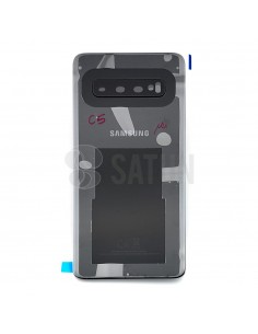 Tapa de batería Samsung Galaxy S10 negro frontal. GH82-18378A