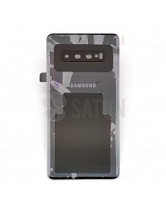 Tapa de batería Samsung Galaxy S10 Plus negro frontal. GH82-18406A