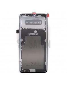 Tapa de batería Samsung Galaxy S10 Plus negro ceramico frontal. GH82-18867A