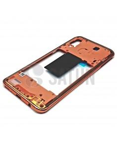 Carcasa intermedia Samsung Galaxy A40 coral. GH97-22974D