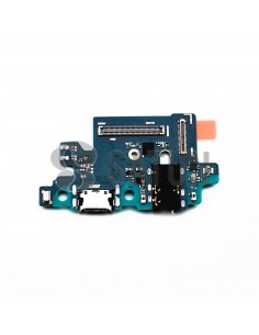 Placa conector USB y auriculares Samsung Galaxy A40 frontal. GH96-12454A