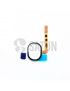 Flex botón home y sensor huella Samsung Galaxy A40 blanco. GH96-12484B