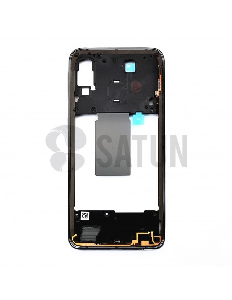 Carcasa intermedia Samsung Galaxy A40 negro posterior. GH97-22974A