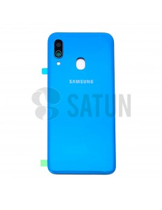 Tapa de batería Samsung Galaxy A40 azul frontal. GH82-19406C