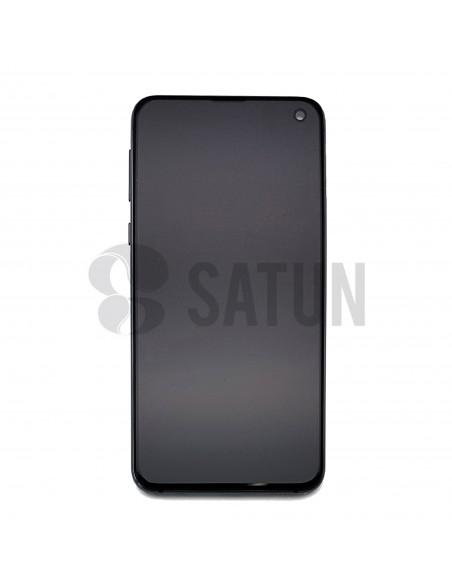 Pantalla Samsung Galaxy S10e negro frontal. GH82-18836A