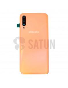 Tapa de batería Samsung Galaxy A50 naranja. GH82-19229D