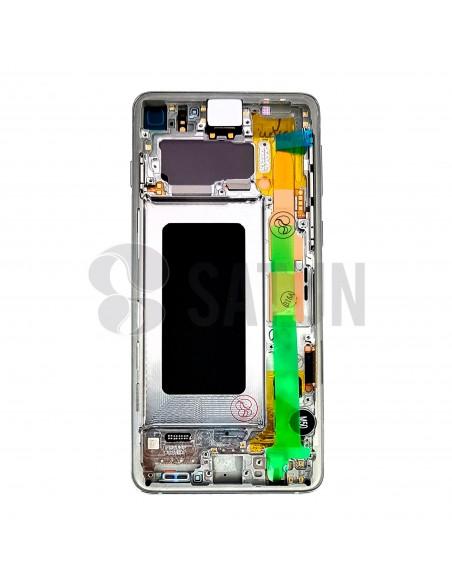 Pantalla Samsung Galaxy S10 blanco trasera. GH82-18835B.