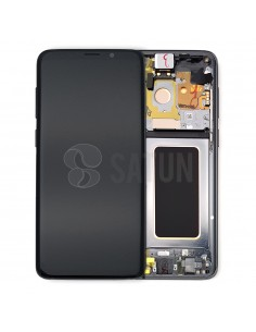Pantalla con marco Samsung Galaxy S9 Plus gris. GH97-21691C y GH97-21692C