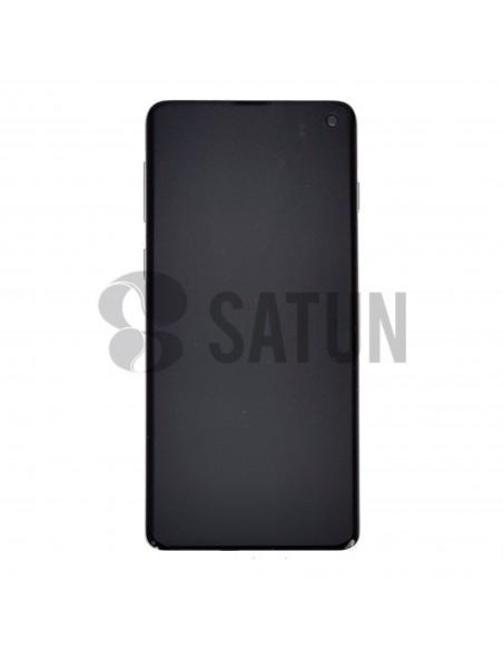 Pantalla Samsung Galaxy S10 negro frontal. GH82-18835A