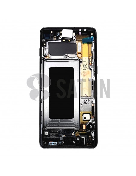 Pantalla Samsung Galaxy S10 negro posterior. GH82-18835A