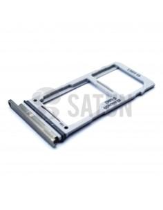 Bandeja dual SIM microSD Samsung Galaxy S10 blanco. GH98-43713B