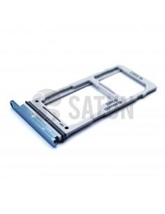 Bandeja dual SIM microSD Samsung Galaxy S10 azul. GH98-43713C