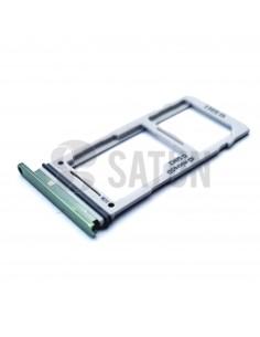 Bandeja dual SIM microSD Samsung Galaxy S10 verde. GH98-43713E