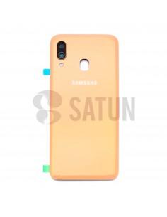 Tapa de batería Samsung Galaxy A40 coral frontal. GH82-19406D