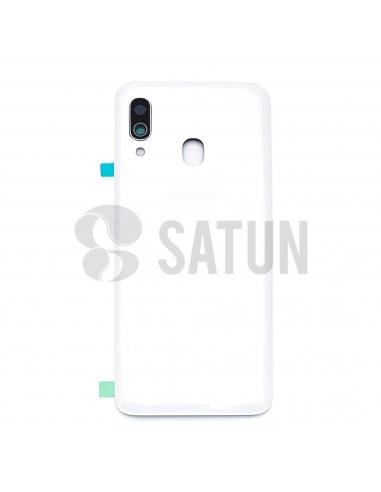 Tapa de batería Samsung Galaxy A40 blanco frontal. GH82-19406B