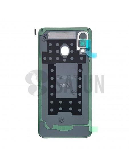 Tapa de batería Samsung Galaxy A40 blanco posterior. GH82-19406B