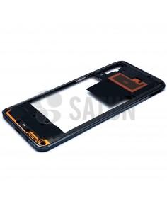 Carcasa intermedia Samsung Galaxy A50 negro perspectiva. GH97-23209A