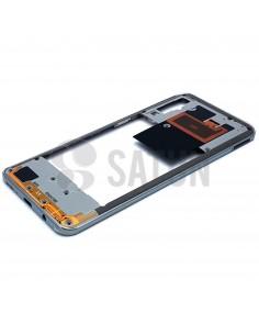 Carcasa intermedia Samsung Galaxy A50 blanco perspectiva. GH97-23209B