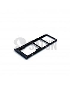 Bandeja Dual SIM y microSD Samsung Galaxy A50 negro perspectiva. GH98-43922A