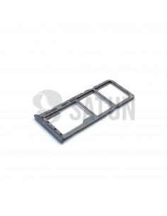 Bandeja Dual SIM y microSD Samsung Galaxy A50 blanco perspectiva. GH98-43922B