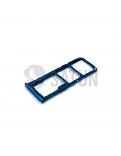 Bandeja Dual SIM y microSD Samsung Galaxy A50 azul perspectiva. GH98-43922C