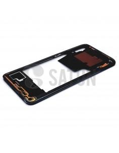 Carcasa intermedia Samsung Galaxy A70 negro perspectiva. GH97-23445A
