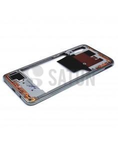 Carcasa intermedia Samsung Galaxy A70 blanco perspectiva. GH97-23445B