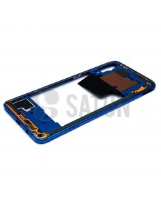 Carcasa intermedia Samsung Galaxy A70 azul perspectiva. GH97-23445C