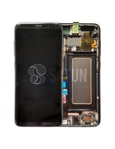 Pantalla con marco Samsung Galaxy S8 negro. GH97-20457A y GH97-20473A