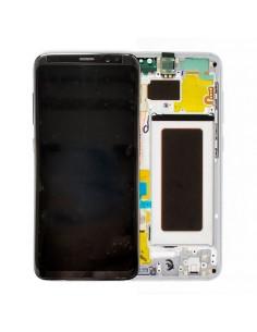 Pantalla con marco Samsung Galaxy S8 plata. GH97-20457B y GH97-20473B