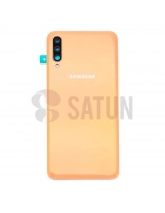Tapa de batería Samsung Galaxy A70 naranja frontal. GH82-19467D