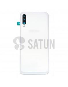 Tapa de batería Samsung Galaxy A70 blanco frontal. GH82-19467B