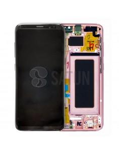 Pantalla con marco Samsung Galaxy S8 rosa. GH97-20457E y GH97-20473E
