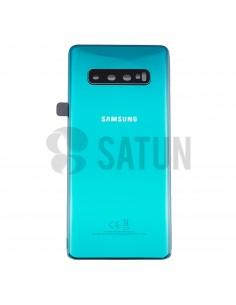 Tapa de batería Samsung Galaxy S10 Plus verde frontal. GH82-18406E