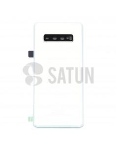 Tapa de batería Samsung Galaxy S10 Plus blanco prisma frontal. GH82-18406F