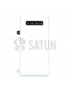 Tapa de batería Samsung Galaxy S10 blanco prisma frontal. GH82-18378F
