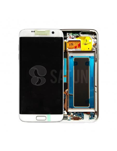 Pantalla con marco Samsung Galaxy S7 Edge blanco. GH97-18533D y GH97-18767D