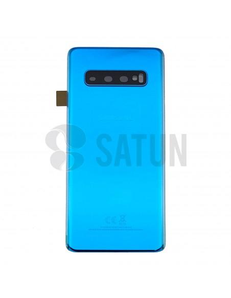 Tapa de batería Samsung Galaxy S10 azul frontal. GH82-18378C
