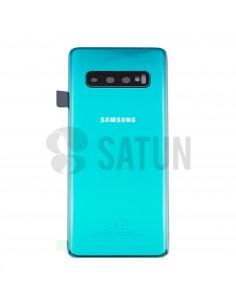 Tapa de batería Samsung Galaxy S10 verde frontal. GH82-18378E