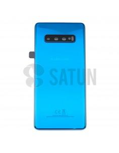 Tapa de batería Samsung Galaxy S10 Plus azul frontal. GH82-18406C