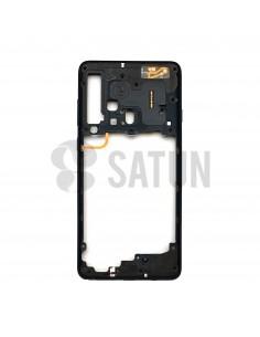 Carcasa intermedia Samsung Galaxy A9 2018 negro posterior. GH96-12294A