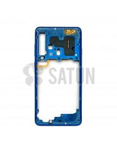 Carcasa intermedia Samsung Galaxy A9 2018 azul posterior. GH96-12294B