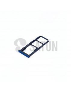 Bandeja Dual Sim y microSD Samsung Galaxy A9 2018 azul. GH98-43612B