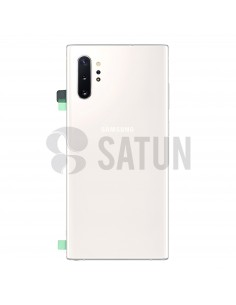 Tapa de batería Samsung Galaxy Note 10+ blanco frontal. GH82-20588B