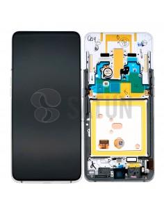 Pantalla con marco Samsung Galaxy A80 plata. GH82-20348B