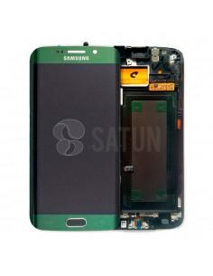 Pantalla Samsung Galaxy S6 Edge verde. GH97-17162E