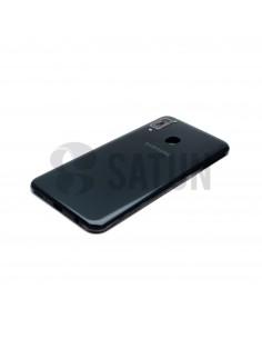 Carcasa intermedia Samsung Galaxy A20e negro vista en perspectiva. GH82-20125A