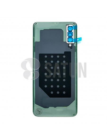 GH82-20805D. Tapa de batería Samsung Galaxy A30s blanco vista posterior.