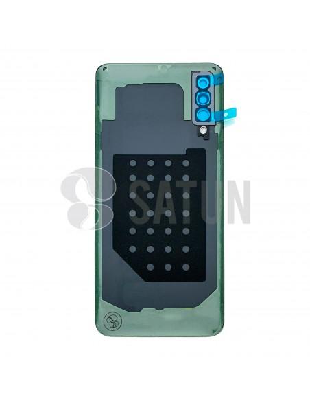 GH82-20805A. Tapa de batería Samsung Galaxy A30s negro vista posterior.